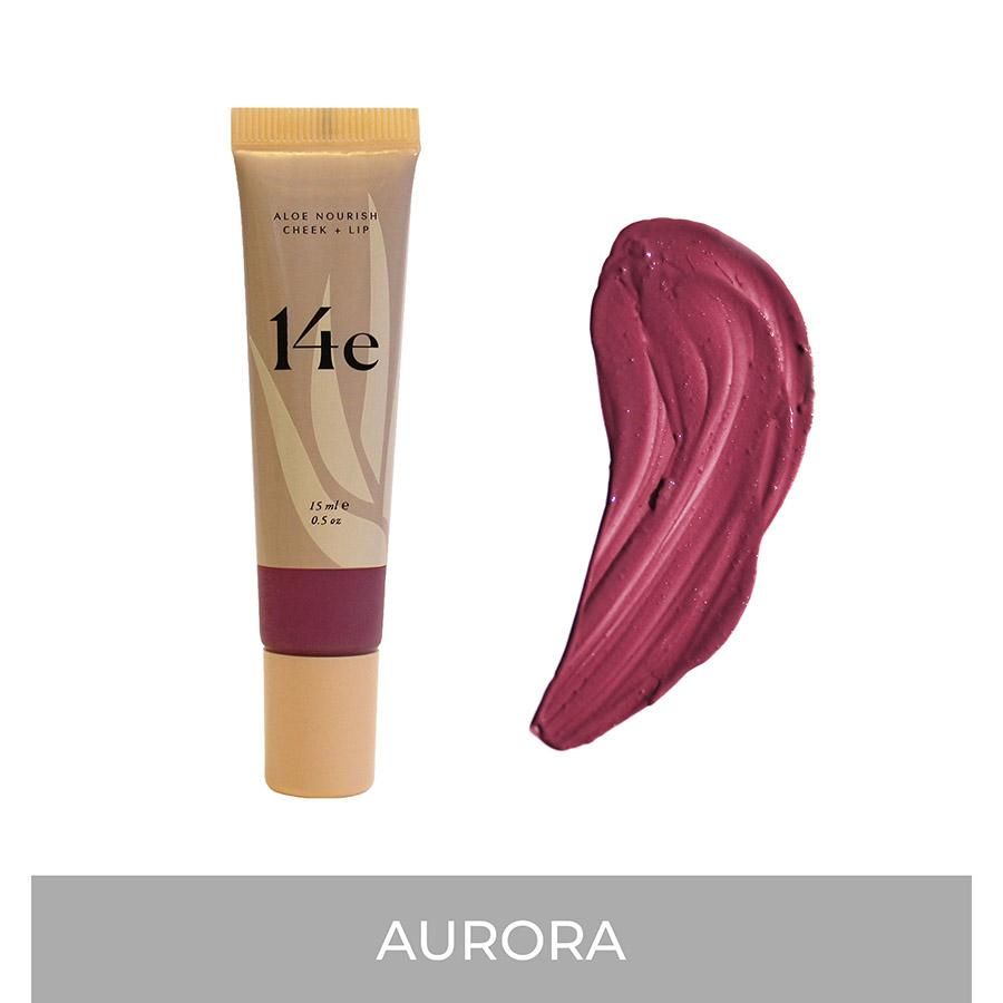 Aloe Nourish Cheek + Lip (3 Farben) Rouge 14e Cosmetics Aurora - Genuine Selection