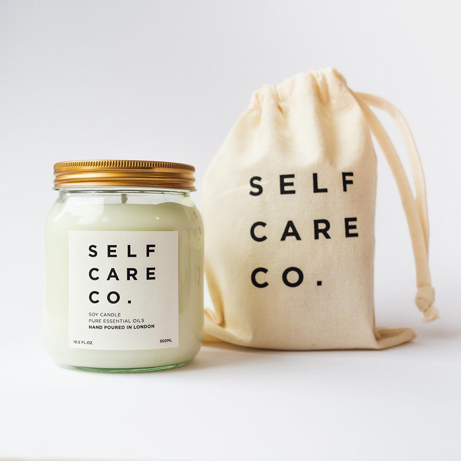 Eucalyptus + Peppermint Aromatherapy Candle Kerzen Self Care Co. - Genuine Selection
