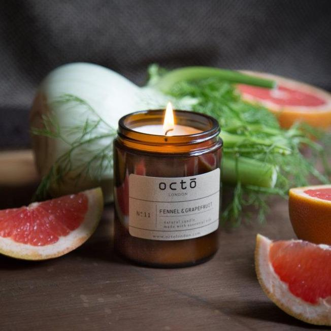 Fennel & Grapefruit Candle Kerzen Octo London - Genuine Selection