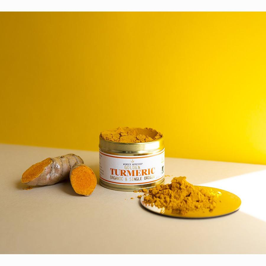 Golden Turmeric Powder Nahrungsergänzungsmittel Wunder Workshop - Genuine Selection