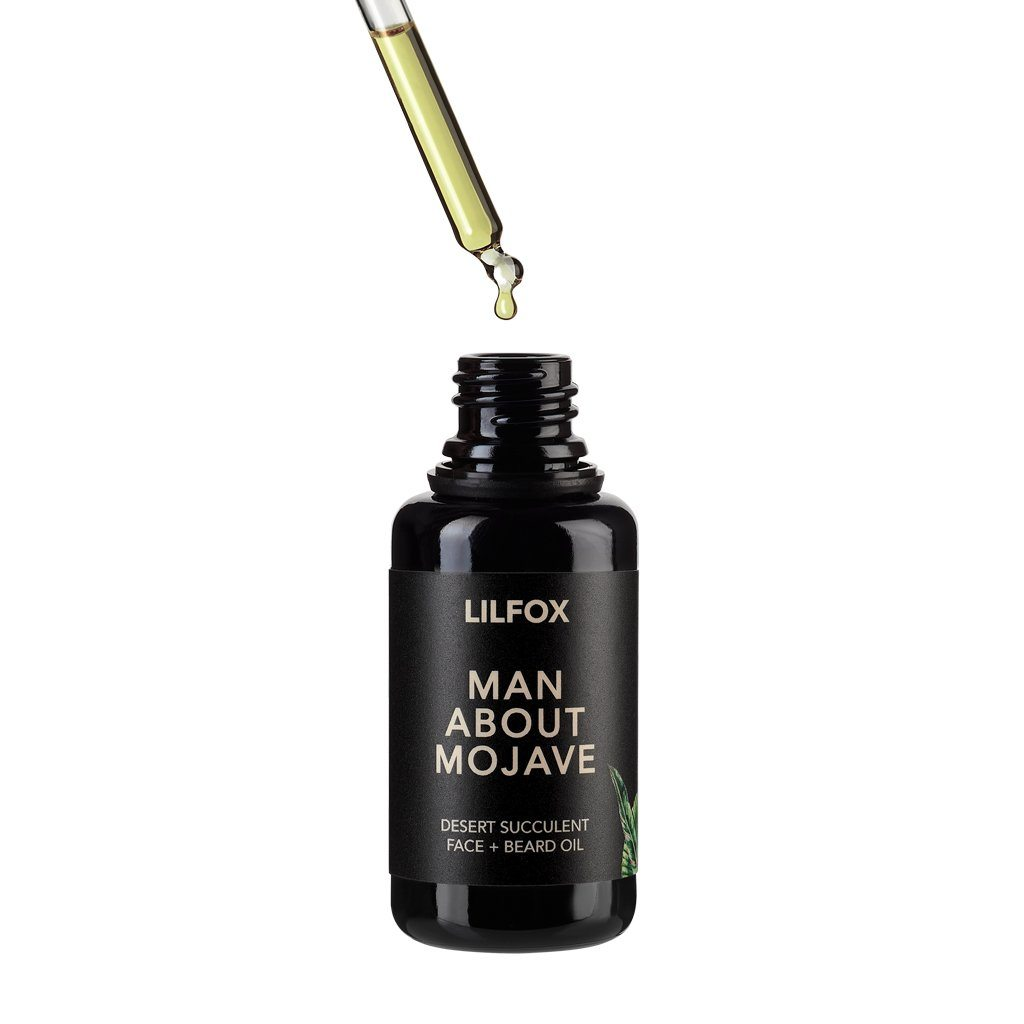 Man About Mojave Desert Succulent Face + Beard Oil Bartöl LILFOX - Genuine Selection