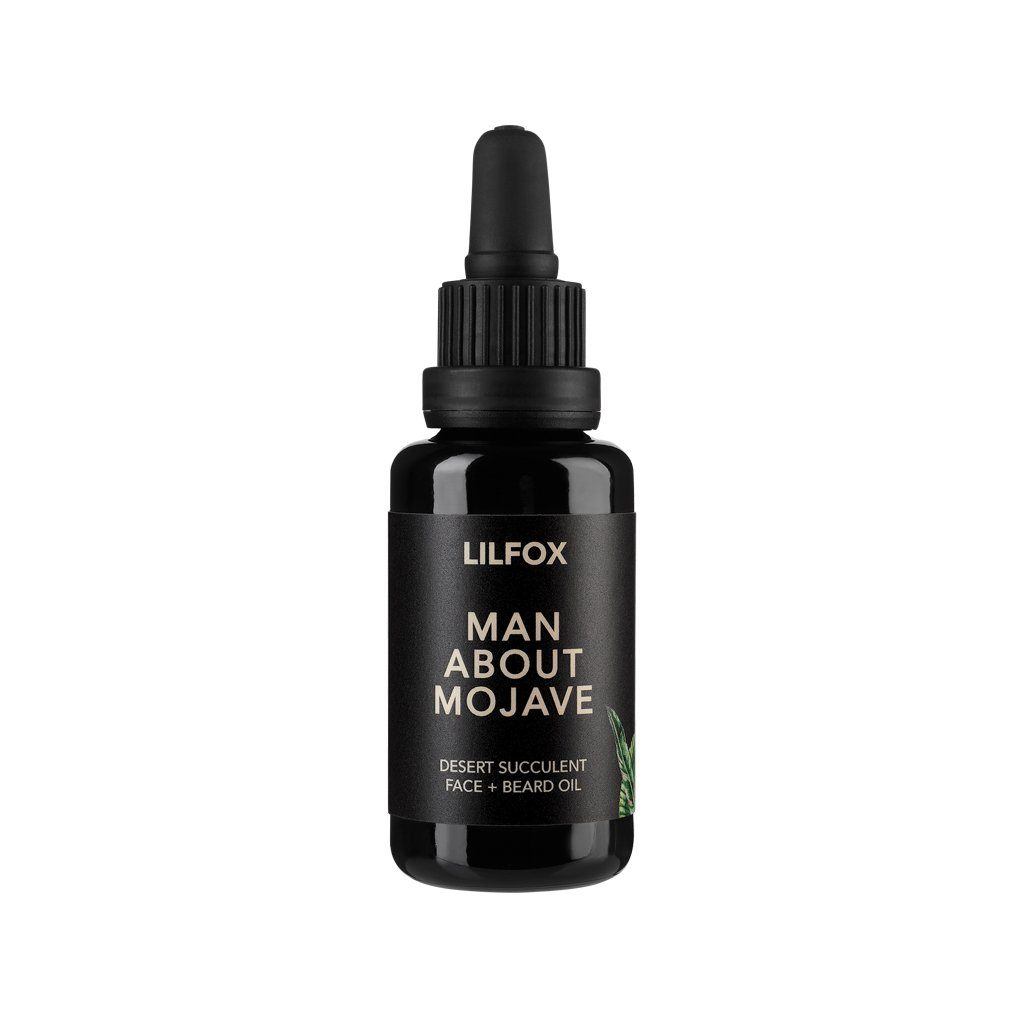 Man About Mojave Desert Succulent Face + Beard Oil Bartöl LILFOX 30ml - Genuine Selection