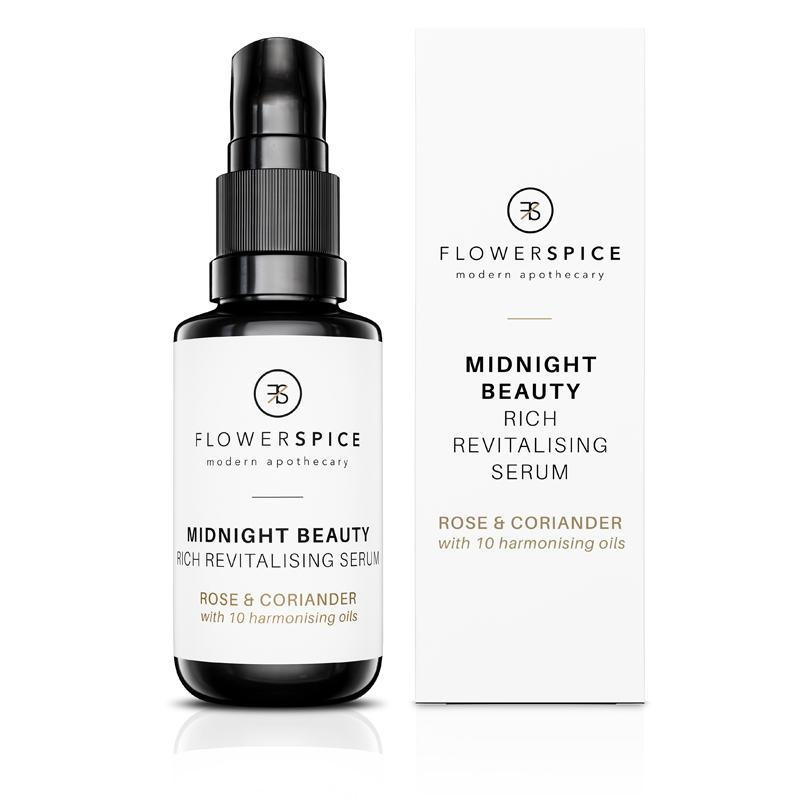 Midnight Beauty Rich Revitalizing Serum Rose & Coriander Serum Flower and Spice 30ml - Genuine Selection