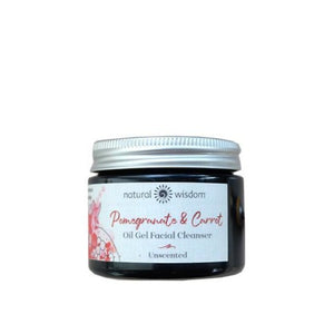 Organic Pomegranate & Carrot Oil Gel to Milk Cleanser Reinigung Natural Wisdom - Genuine Selection