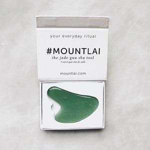 The Jade Gua Sha Tool Facial Tools Mount Lai - Genuine Selection