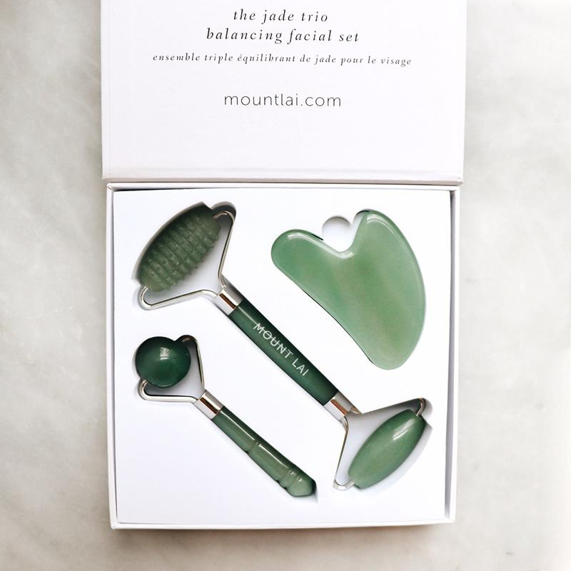 The Limited Edition Jade Trio Balancing Set Facial Tools Mount Lai - Genuine Selection
