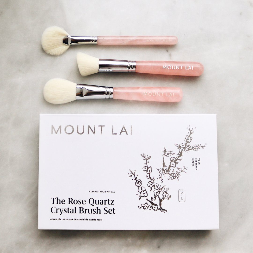 The Limited Edition Rose Quartz Crystal Brush Set Pinsel Mount Lai - Genuine Selection