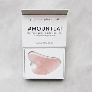 The Rose Quartz Gua Sha Facial Lifting Tool Facial Tools Mount Lai - Genuine Selection