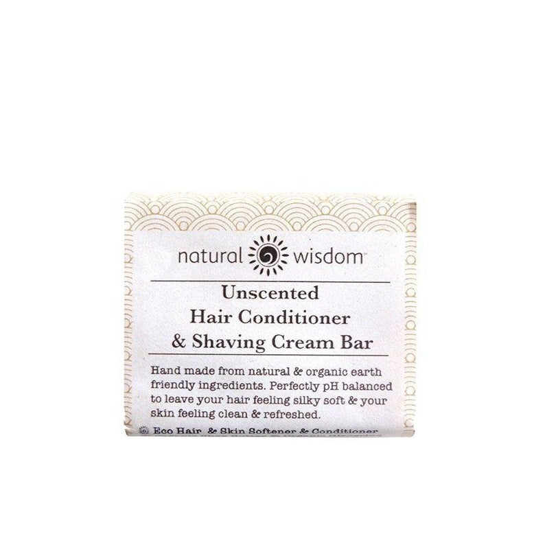 Unscented Conditioner & Shaving Cream Bar Conditioner Natural Wisdom - Genuine Selection
