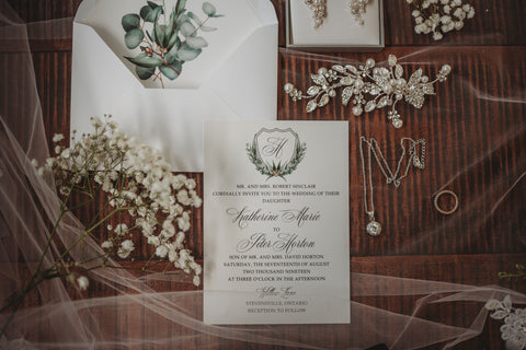 Liz Kotsamanes Designs Greenery Eucalyptus Wedding Invitation Suite Cambridge Ontario Canada Tina Lazarevic Photography