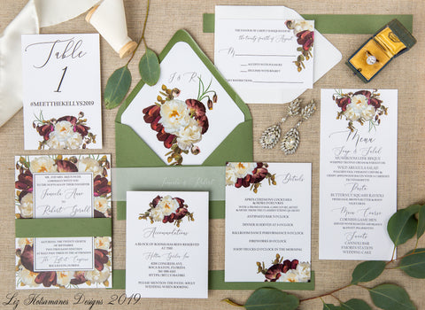 romantic-burgundy-floral-wedding-invitation-luxury-wedding-and-event-stationery-liz-kotsamanes-designs-cambridge-ontario-canada