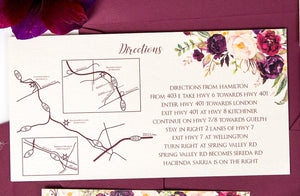 Liz Kotsamanes Designs Map Template Add-on Luxury Wedding Invitations, Cambridge, Ontario, Canada elegant luxury wedding stationery