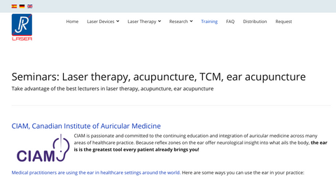 """Take advantage of the best lecturers in laser therapy, acupuncture, ear acupuncture"""