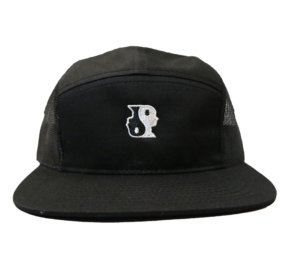 5 Panel Yin Yang Hat (Black)