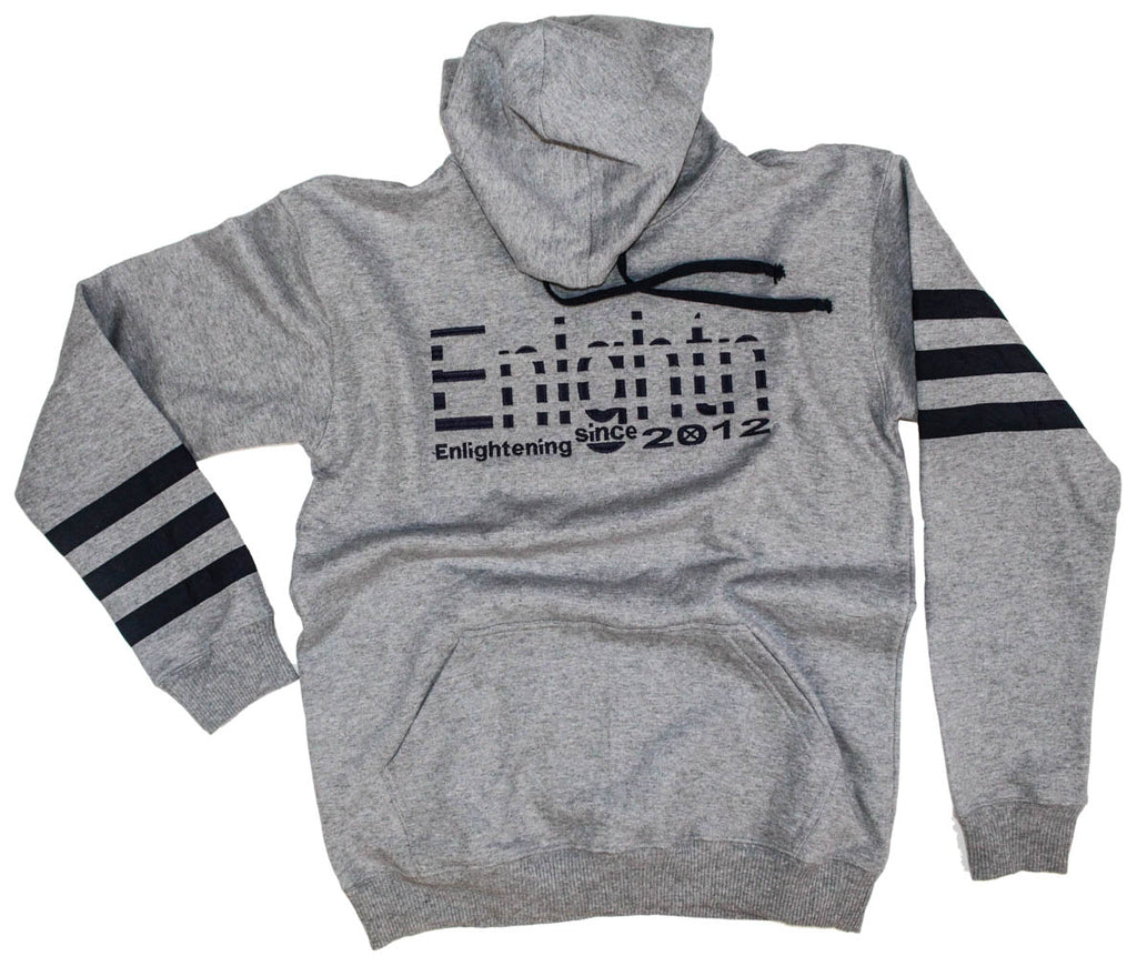 hoodie made with Peruvian cotton made to spread the message of enlightenment, available at our clothing store.