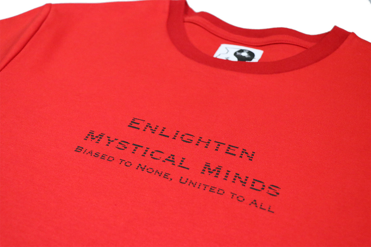 tee shirt made with Peruvian cotton made to spread the message of enlightenment, available at our clothing store.
