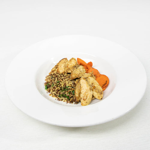 Mustard Chicken with Quinoa Florentine