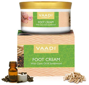 Organic Foot Cream with Clove & Sandalwood Oil - Softens Dry & Cracked Feet (150 gms / 5.29 oz)