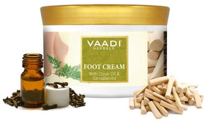 Organic Foot Cream with Clove & Sandalwood Oil - Softens Dry & Cracked Feet (500 gms / 17.63 oz)