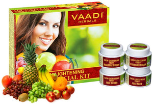 Skin Lightening Organic Fruit Facial Kit - For Deep Nourishment - Reducing Marks (70 gms / 2.5 oz)
