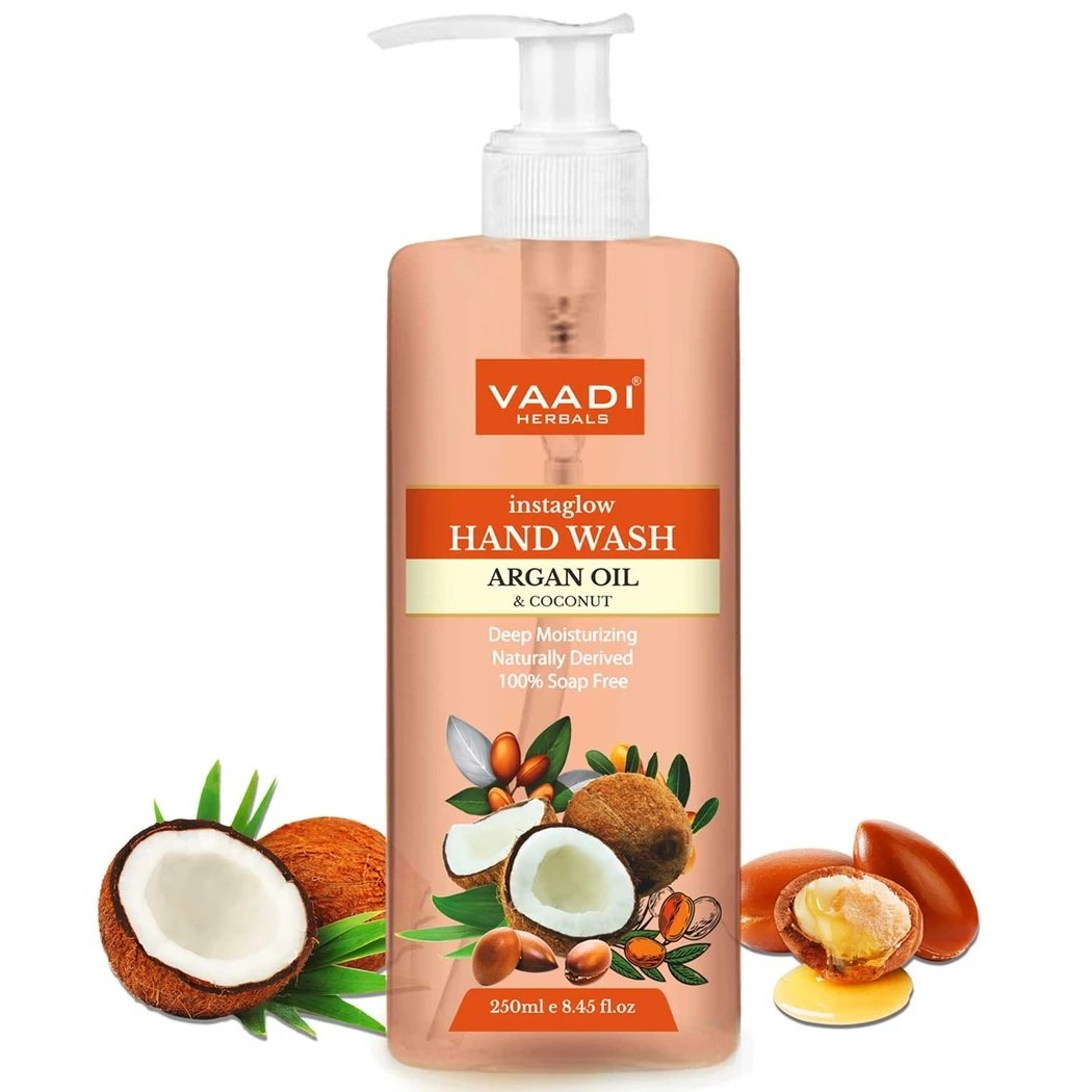 Instaglow Argan Oil & Coconut Hand Wash (250 ml / 8.45 fl oz)
