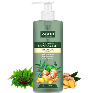 Anti-Bacterial Organic Neem Oil & Ginger Hand Wash (250 ml / 8.5 oz)