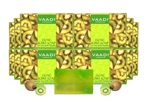 Exotic Organic Kiwi Soap with Green Apple Extract - Gently Clears Skin (12 x 75 gms / 2.7 oz)