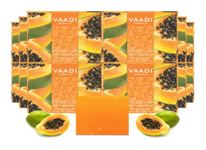 Organic Fresh Papaya Soap - Clears Impurities off Skin - Lightens Skin Tone (12 x 75 gms / 2.7 oz)