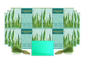 Royal India Organic Khus (Vetiver) Soap with Olive & Soyabean Oil (12 x 75 gms / 2.7 oz)