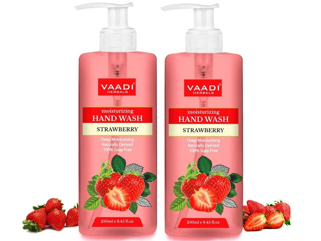 Deep Moisturizing Strawberry Hand Wash (2 x 250 ml / 8.5 oz)