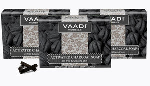Activated Charcoal Soap - Detoxifies Skin - Brightens The Skin Tone (3 x 75 gms / 2.7 oz)