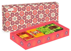 Royal Indian Herb Collection - 4 Premium Herbal Handmade Organic Soap Gift Box - Natural Skin Cleansing Bars for All Skin Types
