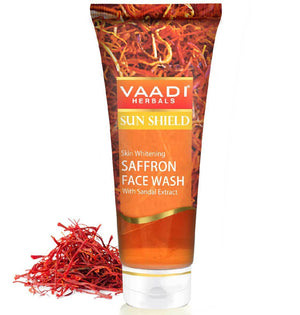 Skin Whitening Organic Saffron Face Wash with Sandalwood (60 ml/2.1 fl oz)