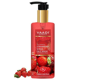 Skin Exfoliating Organic Strawberry Scrub Face Wash with Mulberry Extract (250ml/ 8.45 fl oz)