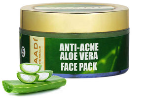 Anti Acne Organic Aloe Vera Face Pack - Clears Skin Deep Impurities - Protects & Hydrates Skin (70 gms/2.5 oz)
