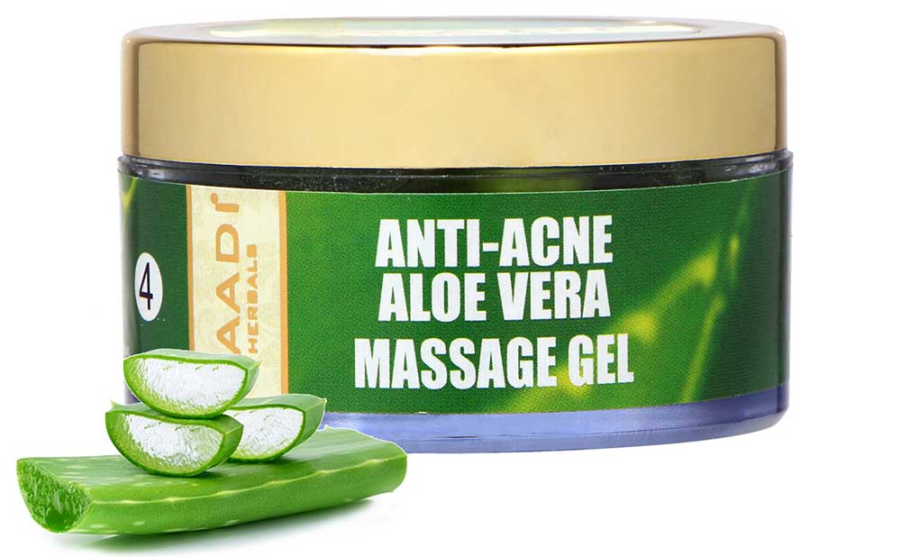 Anti Acne Organic Aloe Vera Massage Gel - Removes Skin Impurities - Keeps Skin Soft (50 gms/ 2 oz)