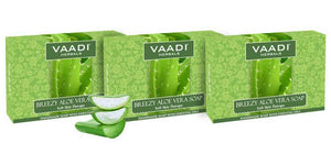 Breezy Organic Aloe Vera Soap with Honey - Anti Infective Therapy (3 x 75 gms / 2.7 oz)
