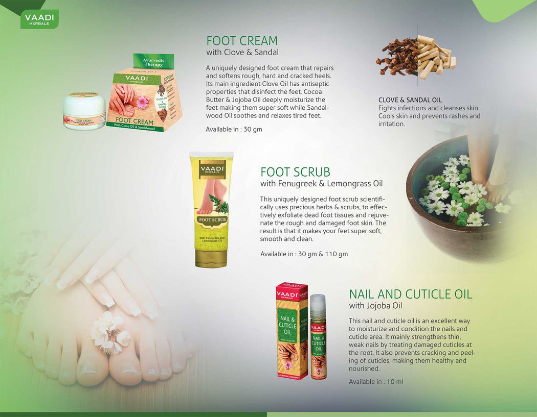 Organic Foot Scrub with Fenugreek & Lemongrass Oil - Therapeutic Exfoliates (110 gms / 4 oz)