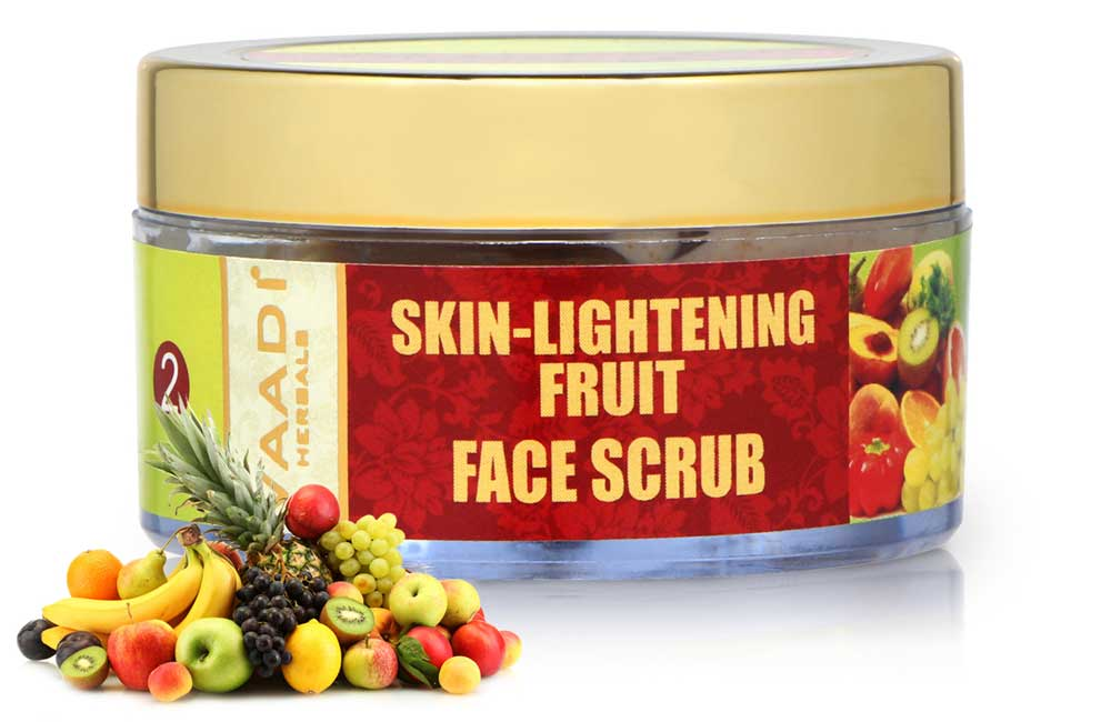 Skin Lightening Organic Fruit Scrub with Orange Extract & Turmeric - Removes Sun Tan - Lightens Complexion ( 50 gms /2oz)