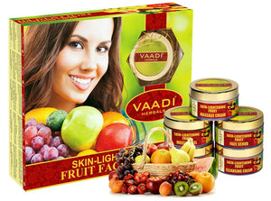 Skin Lightening Organic Fruit Facial Kit - For Deep Nourishment - Reducing Marks (270 gms / 9.6 oz)