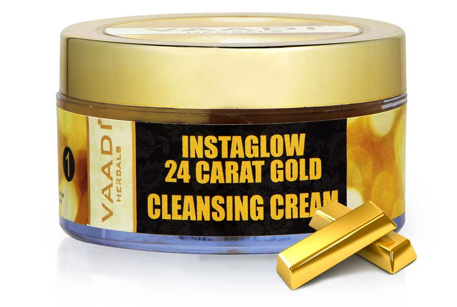 Organic 24 Carat Gold Cleansing Cream with Marigold & Wheatgerm Oil - Clears Skin Oil (50 gms / 2oz)