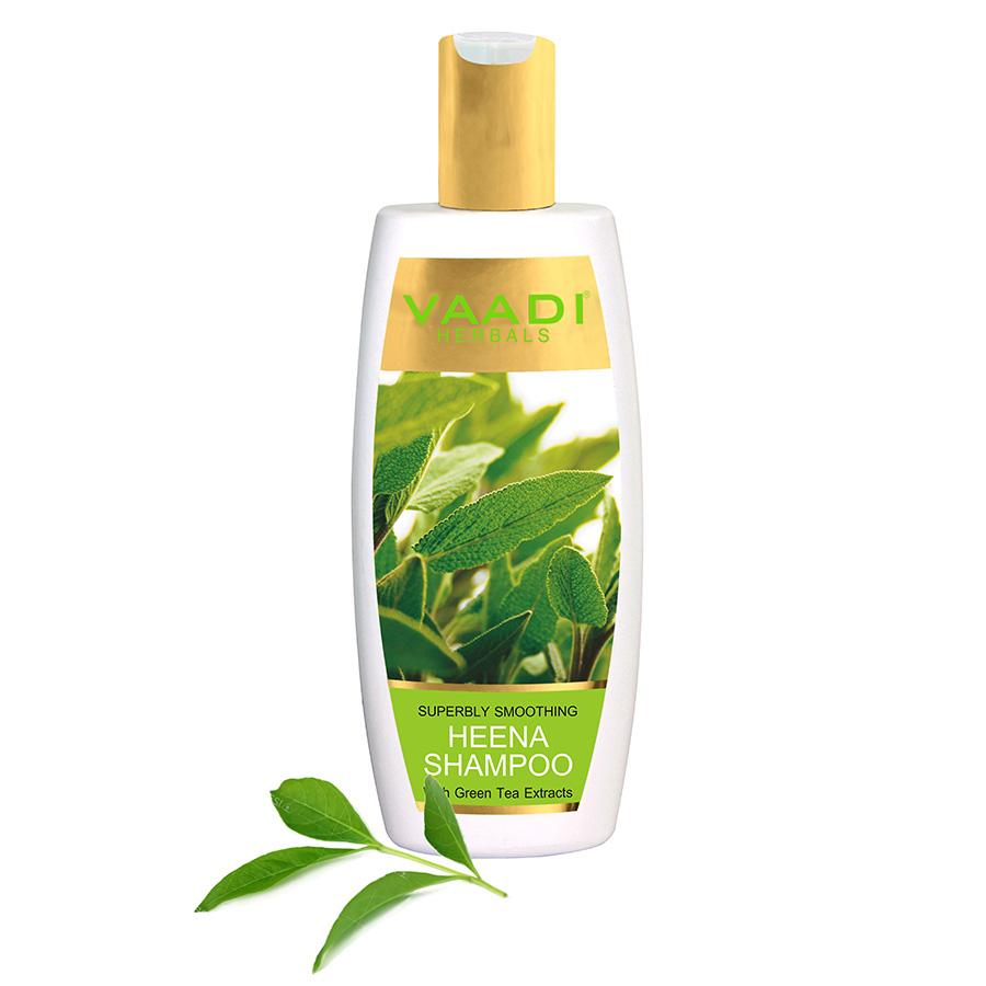 Superbly Smoothing Organic Heena Shampoo with Green Tea Extract (350 ml/12 fl oz)