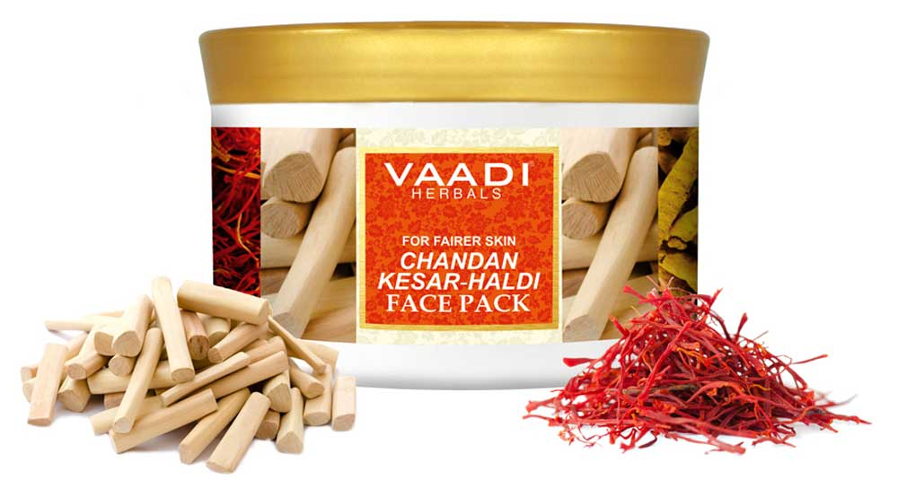 Organic Saffron Sandalwood Face Pack - Removes Marks & Brightens Skin Tone - Rejuvenation & Protects Skin (600 gms/ 21.16 oz)