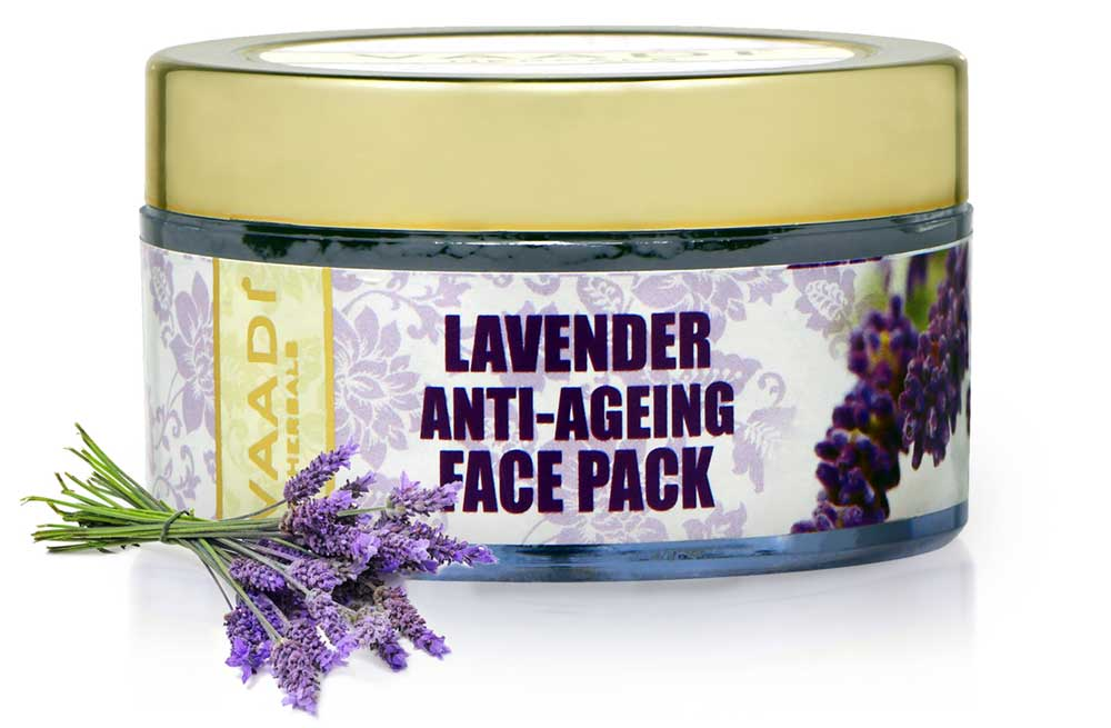 Anti Aging Organic Lavender Face Pack with Rosemary Extract - Prevents Wrinkles & Sagging of Skin ( 70 gms/2.5 oz)