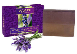 Heavenly Organic Lavender Soap with Rosemary - Revitalizes & Hydrates Skin ( 75 gms / 2.7 oz)