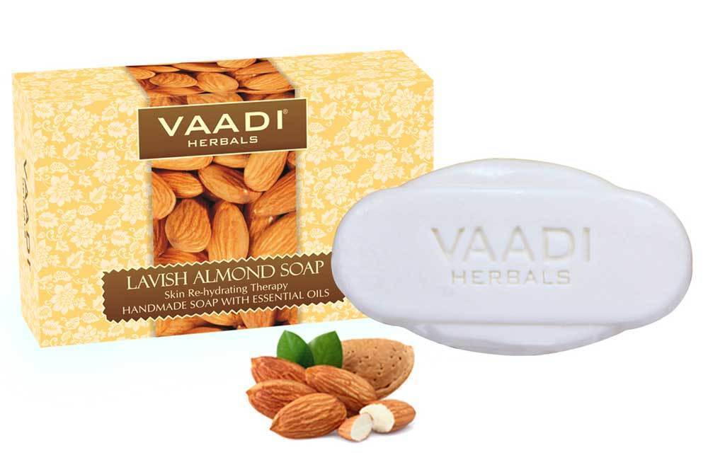 Rehydrating Organic Lavish Almond Soap with Honey & Aloe Vera - Improves Complexion (75 gms/2.7 oz)