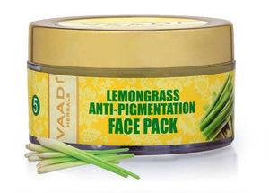 Anti Pigmentation Organic Lemongrass Face Pack with Cedarwood Extract- Removes Excess Oil & Impurities (70 gms/2.5 oz)