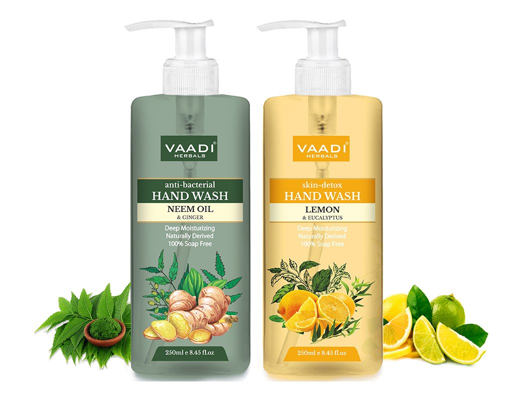 Skin Detox - Pack of 2 Luxurious Handwash - Lemon & Neem (2 x 250 ml / 8.5 oz)
