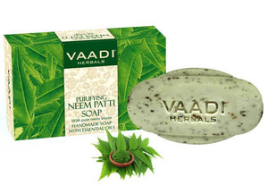 Organic Neem Soap with Pure Neem Leaves (Anti Bacterial) - Detoxifies Skin (75 gms / 2.7 oz)