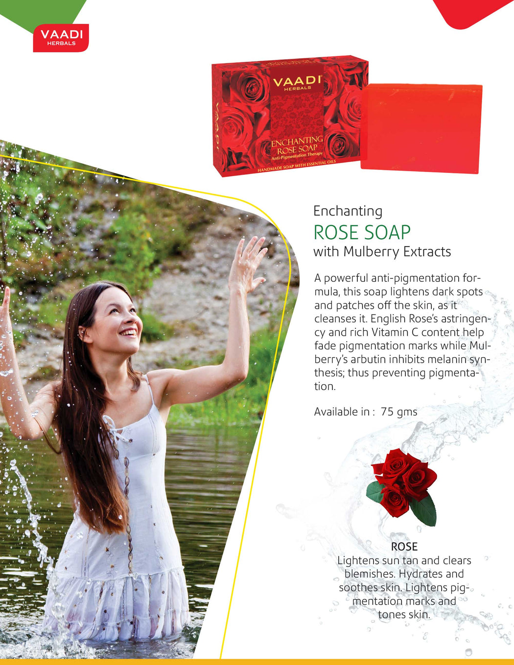 Enchanting Organic Rose Soap with Mulberry Extract - Anti Pigmentation Therapy (6 x 75 gms/2.7 oz)